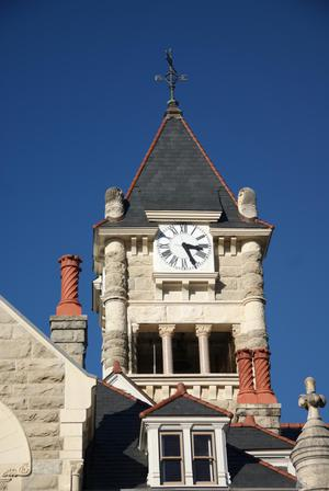 Primary view of object titled '[Courthouse Clock Tower]'.