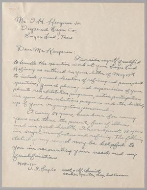Primary view of object titled '[Letter from P. B. Caster to I. H. Kempner, Jr., June 1,1946]'.