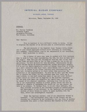 Primary view of object titled '[Letter from I. H. Kempner to Charles Godchaux, September 25, 1946]'.