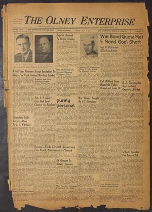 The Olney Enterprise (Olney, Tex.), Vol. 34, No. 23, Ed. 1 Friday, July 14, 1944