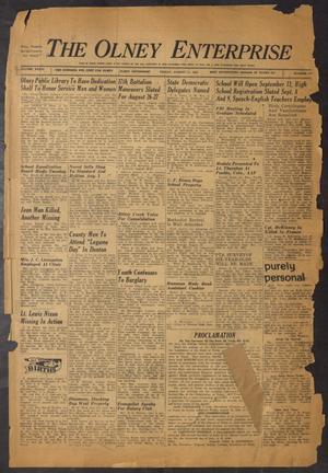 The Olney Enterprise (Olney, Tex.), Vol. 34, No. 27, Ed. 1 Friday, August 11, 1944