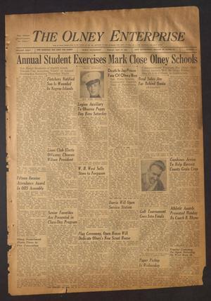 The Olney Enterprise (Olney, Tex.), Vol. 35, No. 15, Ed. 1 Friday, May 25, 1945