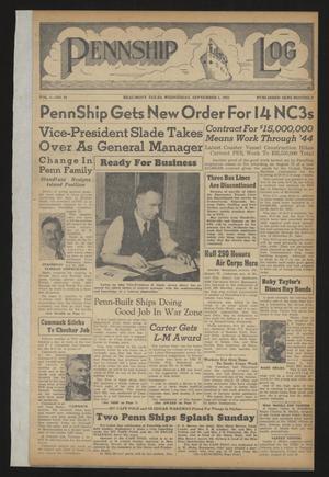Pennship Log (Beaumont, Tex.), Vol. 1, No. 19, Ed. 1 Wednesday, September 1, 1943