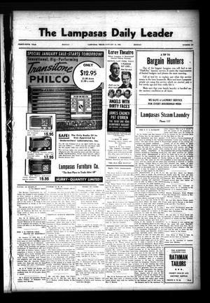 The Lampasas Daily Leader (Lampasas, Tex.), Vol. 35, No. 297, Ed. 1 Monday, January 16, 1939