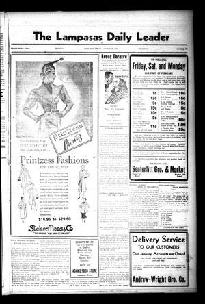 The Lampasas Daily Leader (Lampasas, Tex.), Vol. 33, No. 276, Ed. 1 Thursday, January 28, 1937