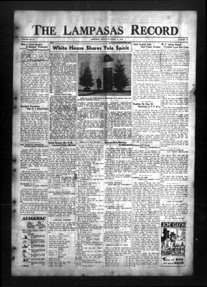 The Lampasas Record (Lampasas, Tex.), Vol. 32, No. 19, Ed. 1 Thursday, December 15, 1938