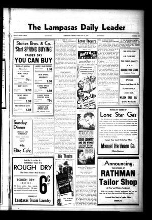 The Lampasas Daily Leader (Lampasas, Tex.), Vol. 33, No. 302, Ed. 1 Saturday, February 27, 1937