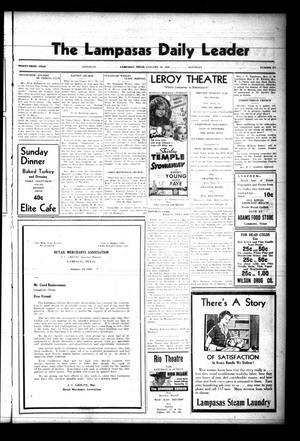 The Lampasas Daily Leader (Lampasas, Tex.), Vol. 33, No. 272, Ed. 1 Saturday, January 23, 1937