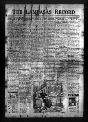 The Lampasas Record (Lampasas, Tex.), Vol. 31, No. 39, Ed. 1 Thursday, May 5, 1938