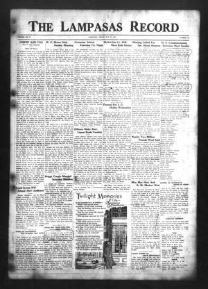 The Lampasas Record (Lampasas, Tex.), Vol. 30, No. 42, Ed. 1 Thursday, May 27, 1937