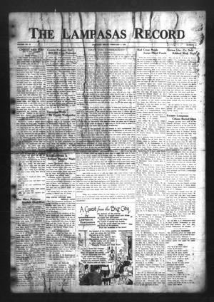 The Lampasas Record (Lampasas, Tex.), Vol. 30, No. 26, Ed. 1 Thursday, February 4, 1937