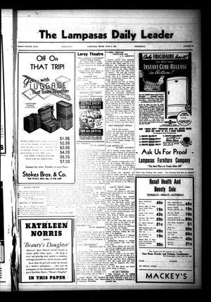 The Lampasas Daily Leader (Lampasas, Tex.), Vol. 34, No. 80, Ed. 1 Wednesday, June 9, 1937