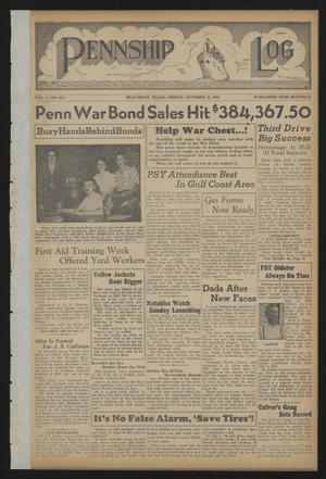 Pennship Log (Beaumont, Tex.), Vol. 1, No. 22, Ed. 1 Friday, October 15, 1943
