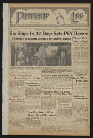 Pennship Log (Beaumont, Tex.), Vol. 1, No. 23, Ed. 1 Monday, November 1, 1943