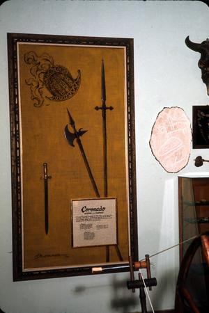 Primary view of object titled '[Sword Display at the Deaf Smith County Museum]'.