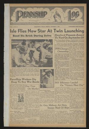 Pennship Log (Beaumont, Tex.), Vol. 1, No. 21, Ed. 1 Friday, October 1, 1943