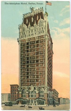 Primary view of object titled '[Postcard of the Adolphus Hotel]'.