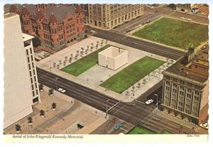 Primary view of object titled '[Aerial View of the JFK Memorial]'.