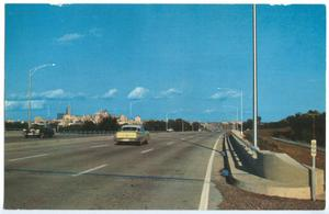 Primary view of object titled '[Cars on the Dallas-Fort Worth Turnpike]'.