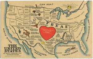 [Postcard of the US Seen Through the Eyes of Texas]
