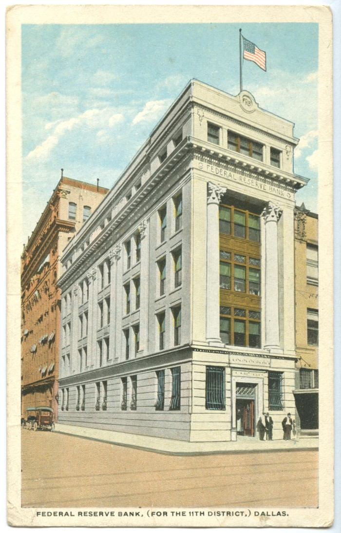 Drawing of the Federal Reserve Bank] - The Portal to Texas