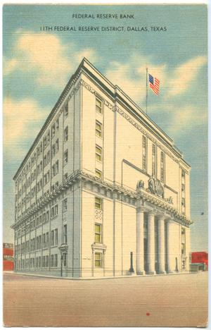 Primary view of object titled '[Drawing of the Federal Reserve Bank]'.