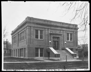 Primary view of object titled '[Front View of Carnegie Building]'.