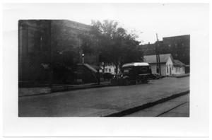 Primary view of object titled '[Carnegie Library and Bookmobile]'.