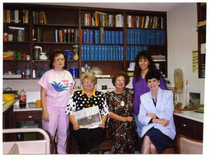 Primary view of object titled '[Portrait of Five Library Staff Members]'.
