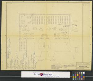 Primary view of object titled 'Cooke County Library, Gainesville, Texas: Library Floor Plan'.
