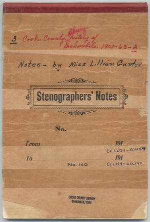 Primary view of object titled '[Lillian Gunter's Steno Book]'.