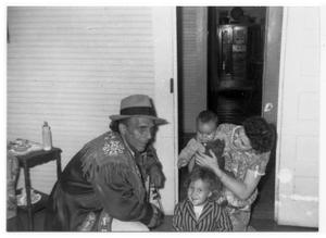 Bill, Jewel Kennedy Young, and Bill's children