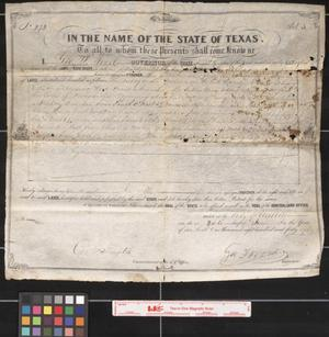 Primary view of object titled '[Texas Land Grant]'.