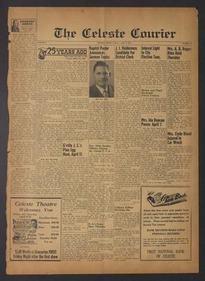 Primary view of The Celeste Courier (Celeste, Tex.), Vol. 56, No. 23, Ed. 1 Friday, April 9, 1954