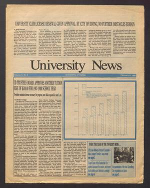 Primary view of object titled 'University News (Irving, Tex.), Vol. 10, No. 9, Ed. 1 Wednesday, February 4, 1987'.