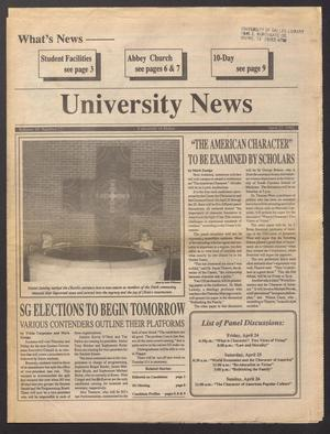 Primary view of object titled 'University News (Irving, Tex.), Vol. 16, No. 12, Ed. 1 Wednesday, April 22, 1992'.