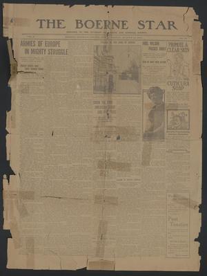 The Boerne Star (Boerne, Tex.), Vol. 9, No. 20, Ed. 1 Friday, August 14, 1914