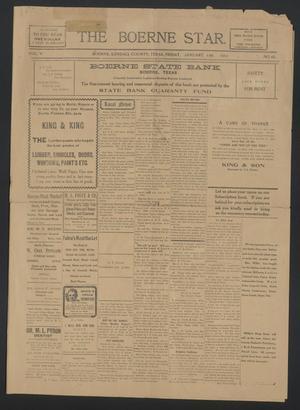 The Boerne Star. (Boerne, Tex.), Vol. 5, No. 42, Ed. 1 Friday, January 13, 1911