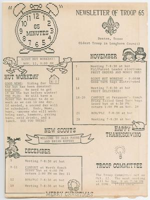 Primary view of object titled '65 Minutes, November-December, 1988'.