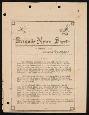 Primary view of object titled 'Second Brigade News, October 28, 1928'.