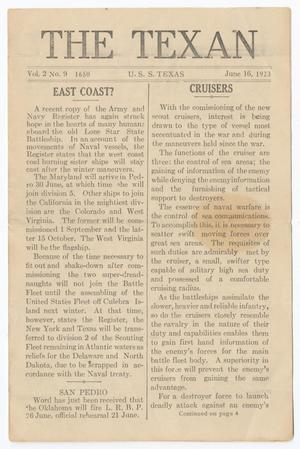 The Texan (U. S. S. Texas), Vol. 2, No. 9, Ed. 1 Saturday, June 16, 1923