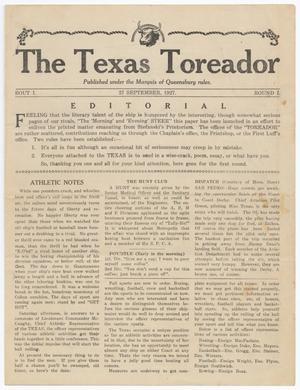 The Texas Toreador (U. S. S. Texas), Vol. 1, No. 1, Ed. 1 Tuesday, September 27, 1927