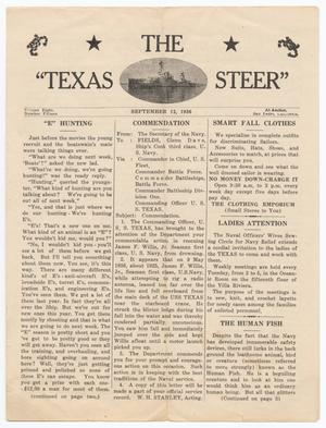 The Texas Steer (U. S. S. Texas), Vol. 8, No. 15, Ed. 1 Saturday, September 12, 1936