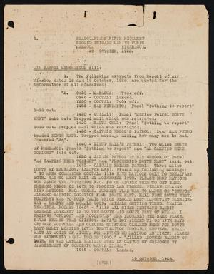 [Memo regarding Air Patrol Reports, 20 October 1928]