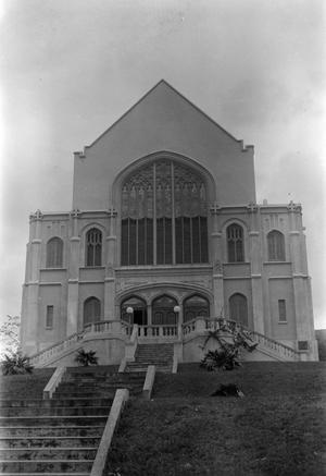 Church with Stairs Up to the Entrance