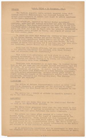 Primary view of [Morning Press] (U. S. S. Texas), Ed. 1 Friday, December 10, 1943