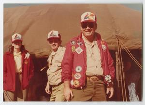 [Troop 65 Leaders in Front of a Tent]