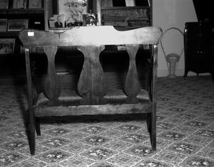 Primary view of object titled '[Furniture at the Deaf Smith County Museum]'.
