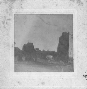 Primary view of object titled '[Aftermath of 1900 Galveston storm, St. Patrick's Church]'.