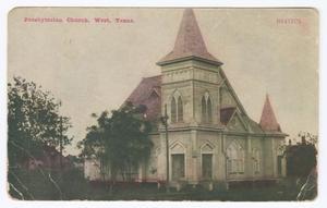 Postcard of Presbyterian Church in West, Texas